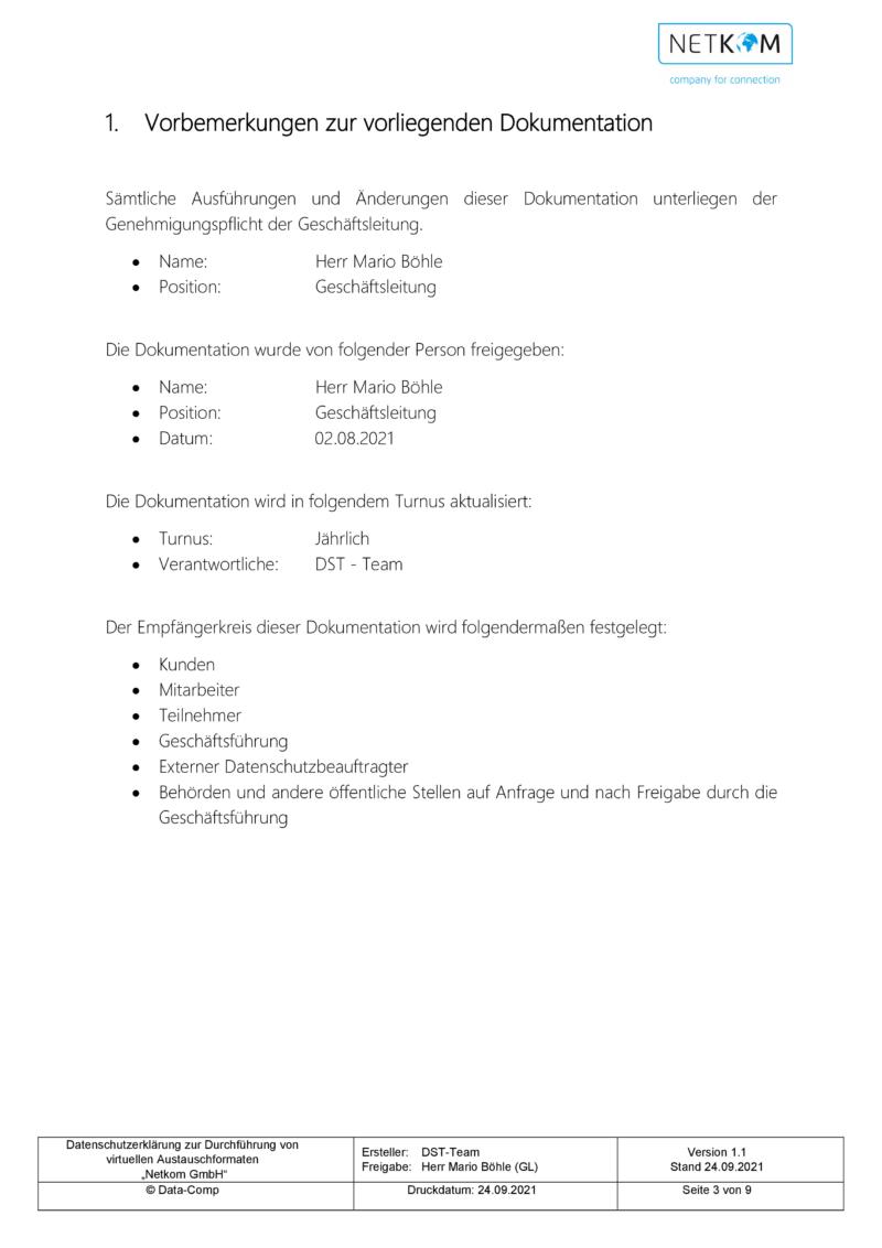 Datenschutzerklärung zur Durchführung von virtuellen Austauschformaten - Netkom GmbH-004