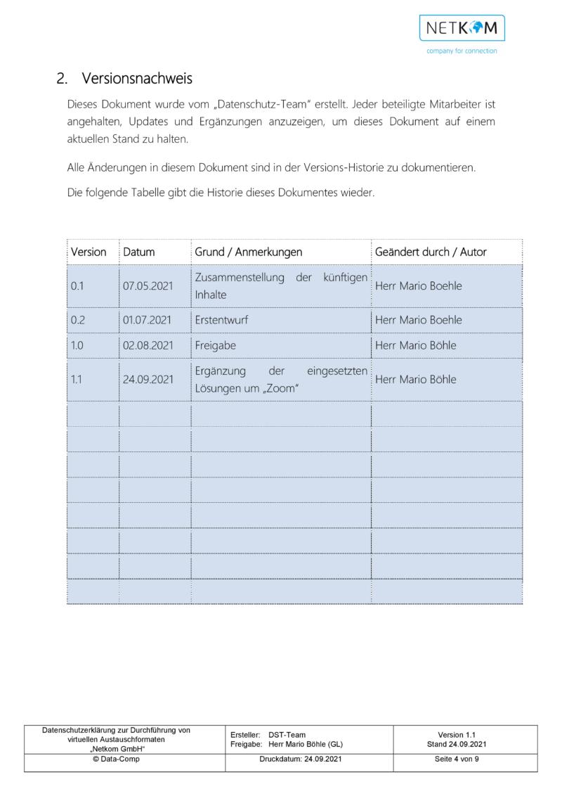 Datenschutzerklärung zur Durchführung von virtuellen Austauschformaten - Netkom GmbH-005